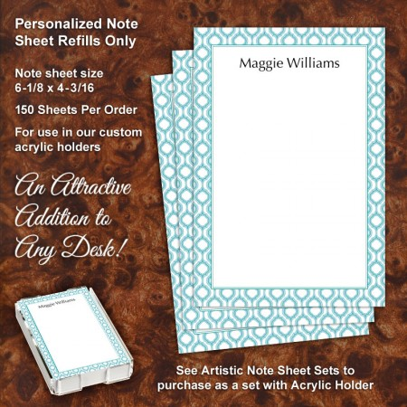Moroccan 2 Note Sheet Refill