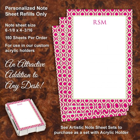 Moroccan 1 Note Sheet Refill