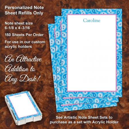 Paisley 2 Note Sheet Refill