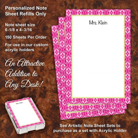 Lace Magenta Note Sheet Refill