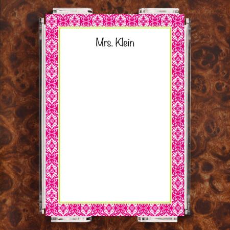Lace Magenta Note Sheet Set