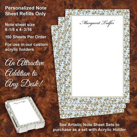 Floral 3 Note Sheet Refill