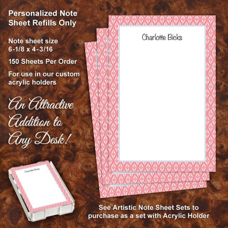 Retro Print Note Sheet Refill