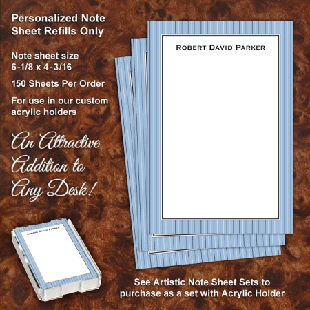 Stripes Blue Note Sheet Refill