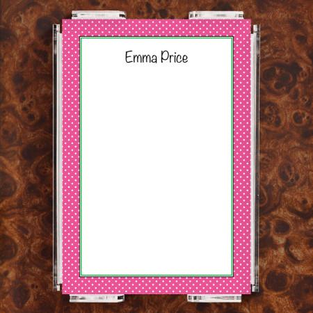 Magenta Polka Dots Note Sheet Set