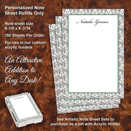 Ancient Motif Note Sheet Refill