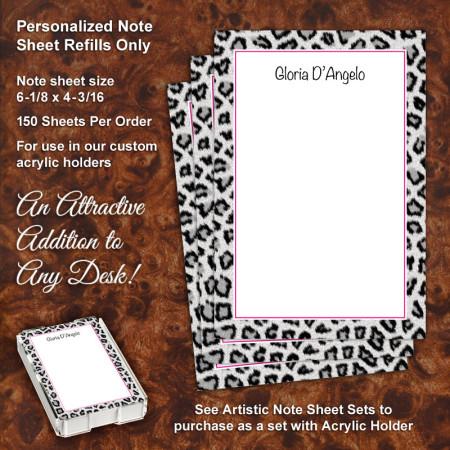 Snow Leopard Note Sheet Refill
