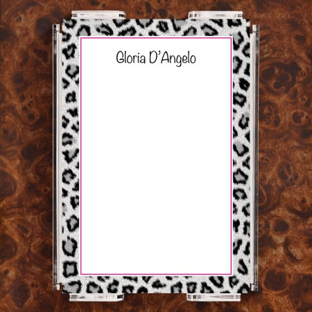 Snow Leopard Note Sheet Set