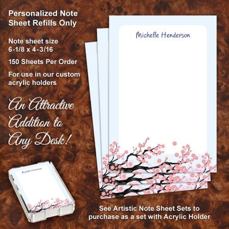 Cherry Blossom Note Sheet Refill
