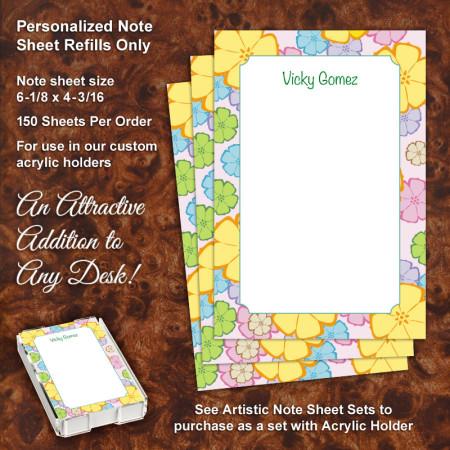 Daisy Flowers Note Sheet Refill