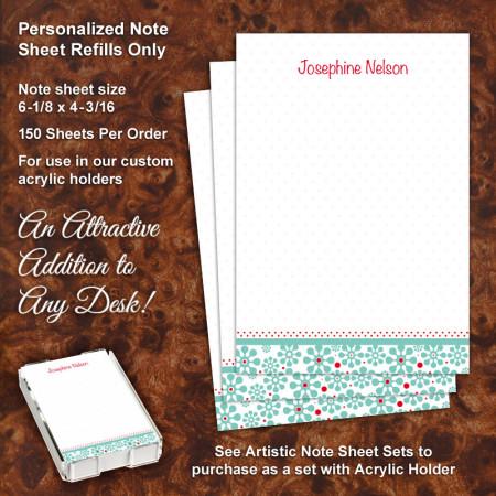 Groovy Flowers Note Sheet Refill