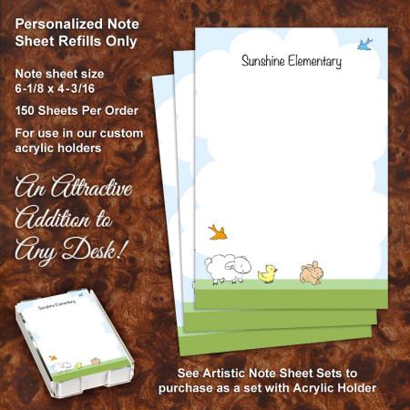 Little Animals Note Sheet Refill