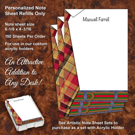 Tie Pad Note Sheet Refill
