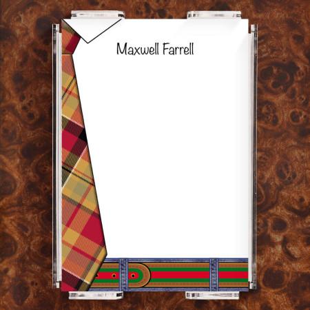 Tie Pad Note Sheet Set
