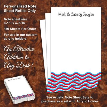 Wavey Stripes Note Sheet Refill