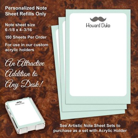 Mustache Note Sheet Refill