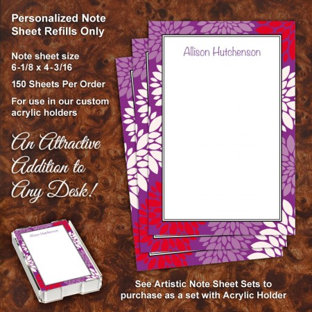 Chrysanthemum Note Sheet Refill