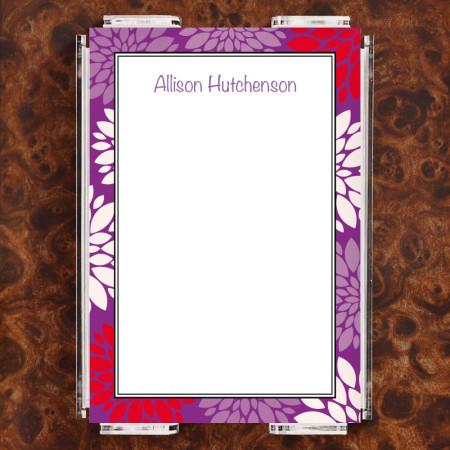 Chrysanthemum Note Sheet Set