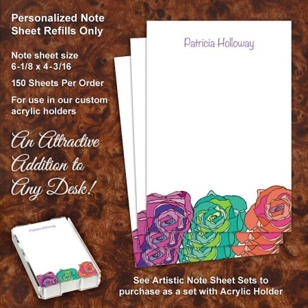 Colorsplash Roses Note Sheet Refill