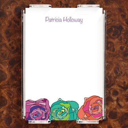 Colorsplash Roses Note Sheet Set