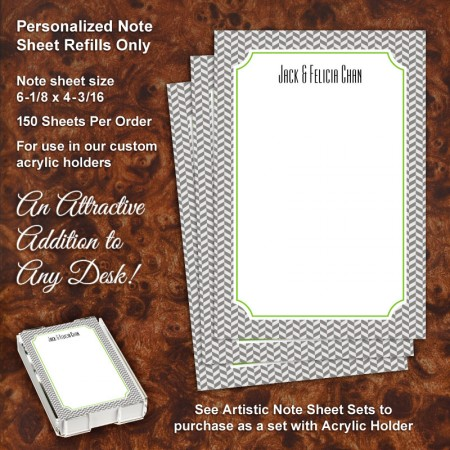 Herringbone Note Sheet Refill