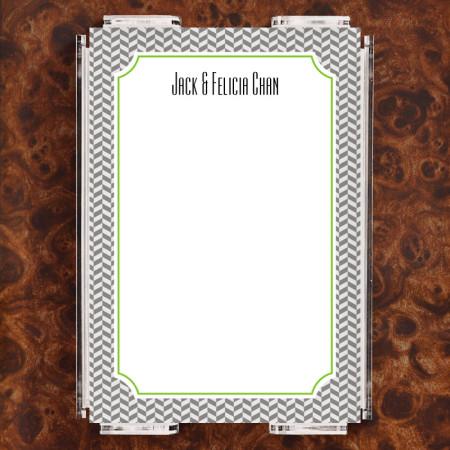 Herringbone Note Sheet Set
