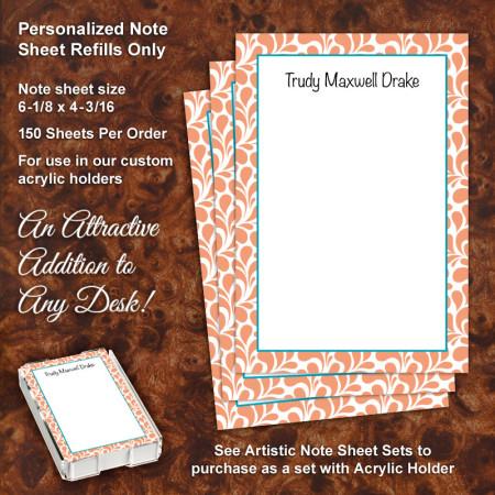 Paisley Shapes Note Sheet Refill