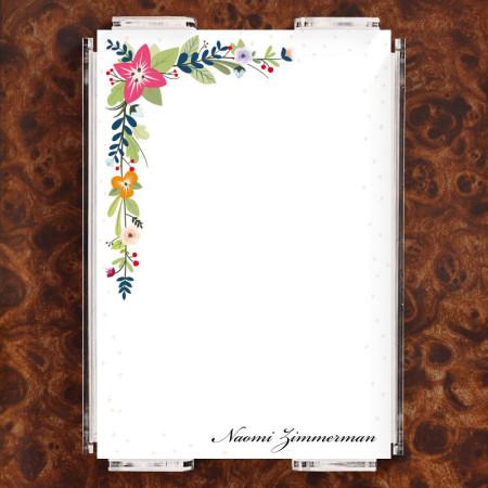 Floral Corners Note Sheet Set