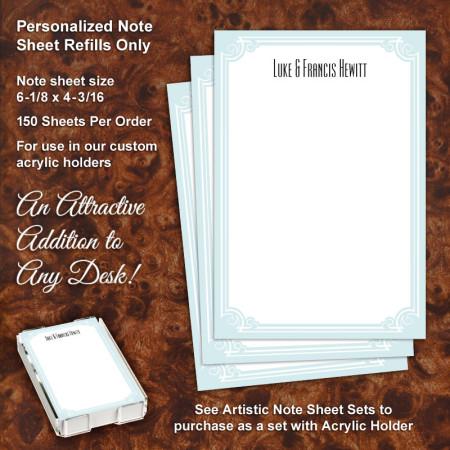 Elegant Scroll Note Sheet Refill