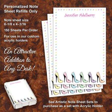 High Heels Note Sheet Refill