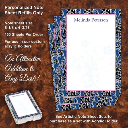 Floral 2 Note Sheet Refill