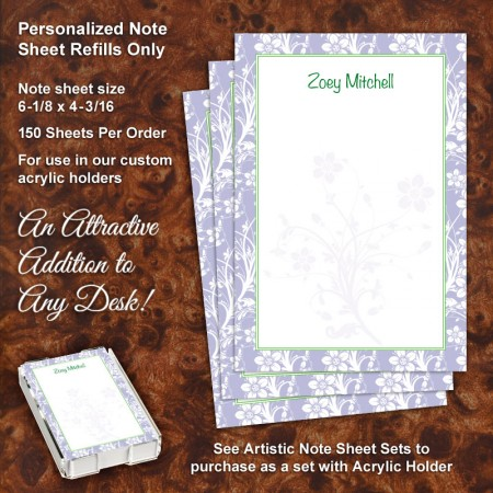 Floral 1 Note Sheet Refill