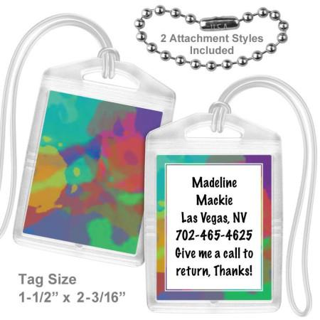 Tie Dye Mini Bag Tag