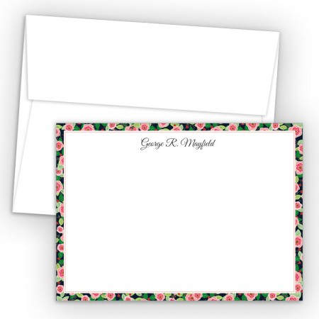 Rose Bordered Correspondence Cards