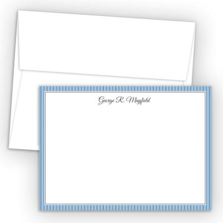 Blue Stripes Correspondence Cards