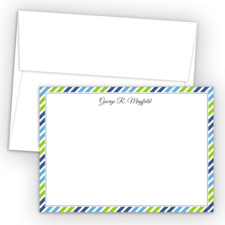 Diagonal Stripes 2 Correspondence Cards