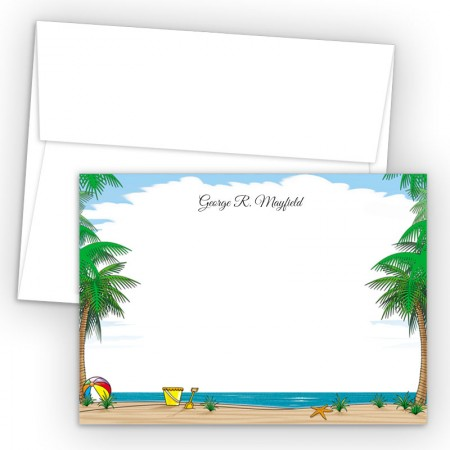 Beach Scene Correspondence Cards