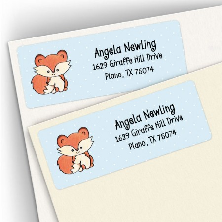 Adorable Fox Address Labels