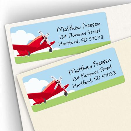 Airplane Address Labels