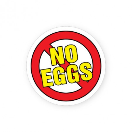 No Eggs Labels for Allergies