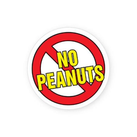 No Peanuts Allergy Alert Labels
