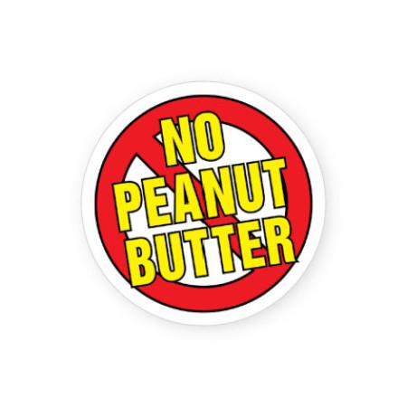 No Peanut Butter Allergy Alert Labels
