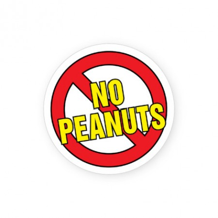 No Peanuts Labels for Allergies