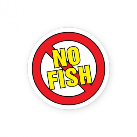 No Fish Allergy Alert Labels