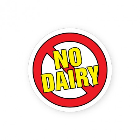 No Dairy Allergy Alert Labels