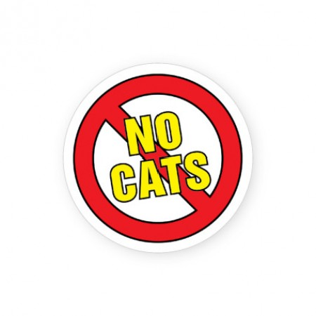No Cats Labels for Allergies