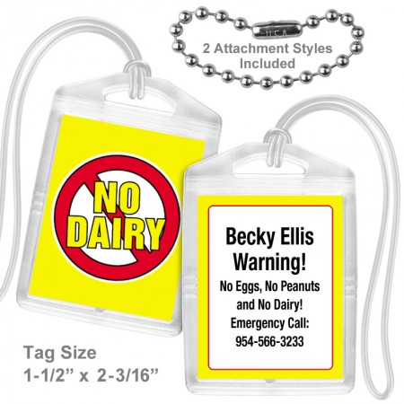 Allergy Dairy Mini Tag