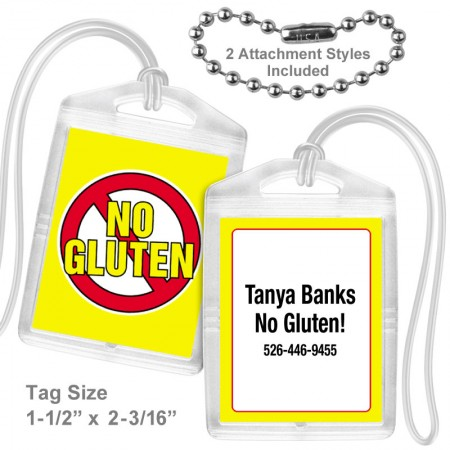 Allergy Gluten Mini Tag