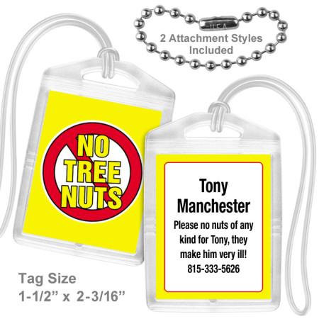 Allergy Tree Nuts Mini Tag