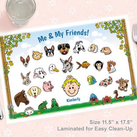 Animals Caricature Placemat